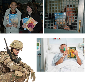 Donate to Schools, Prisons, Military, Hospital Chaplains