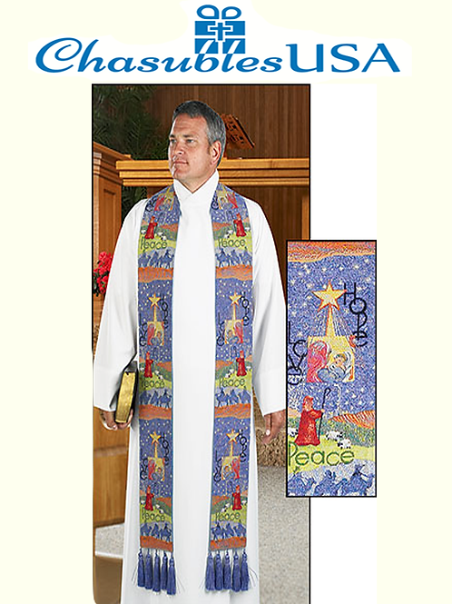 Story of Christmas Tapestry Stole