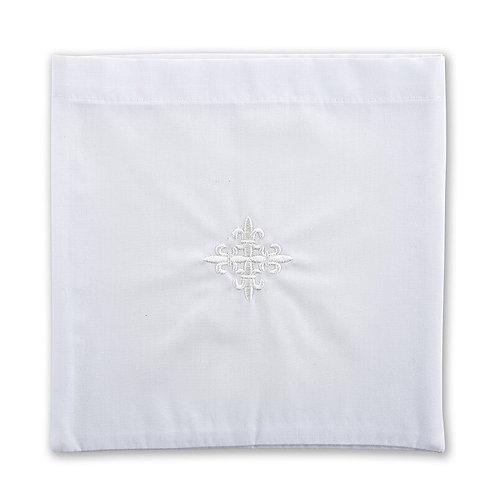 Altar Linen Fleur-de-Lis Cross Chalice Pall - 3/pk