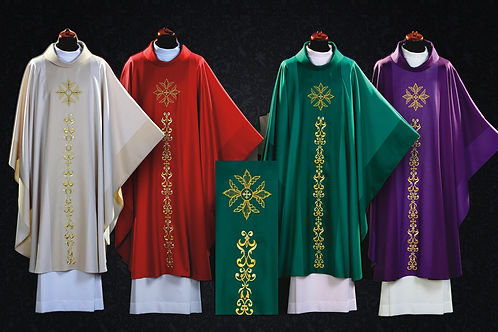 Chasuble Made of Wool Eucharistic Purple