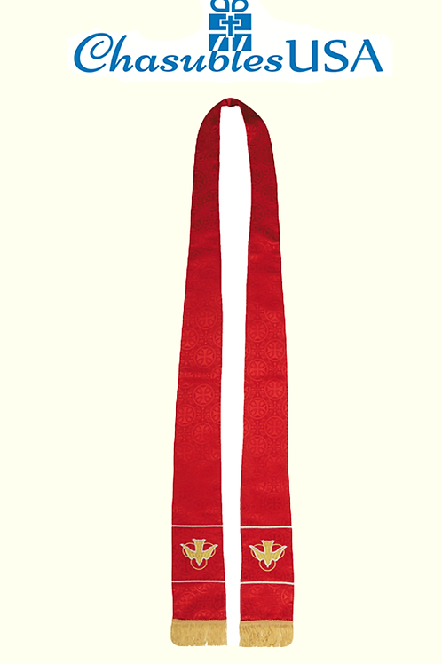Maltese Jacquard Stole: Red