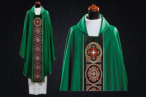 Embroidered Notre Dame Traditional Vestment Made of Fine Italian Fabrics