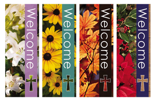 Seasons Welcome Series X-Stand Banners - Set of 4