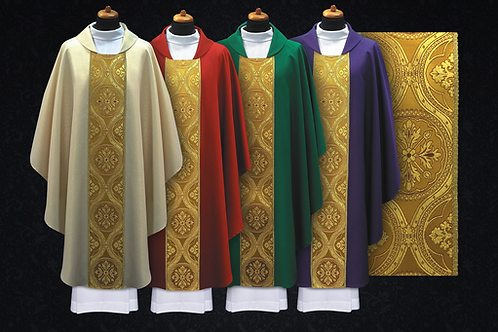 Wool Chasuble with Fine Italian Brocade