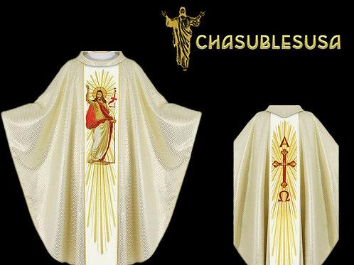 Priest Chasuble Elegant Christ is Risen Vestment Deisgn