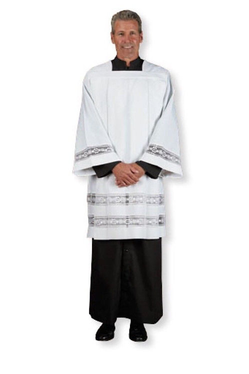 Clergy Double Lace Surplice