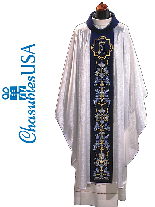 Marian Chasuble Rich Embroidered on a Velvet Belt