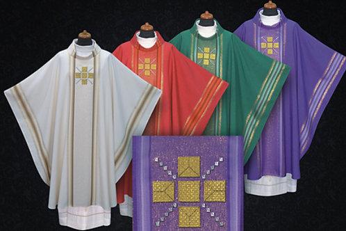 Gothic Chasuble Modern lightweight Fabrics Full Set