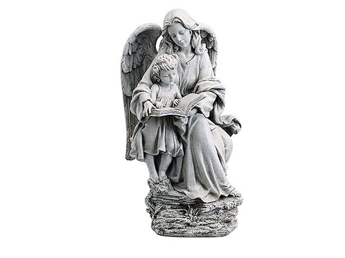 "Guardian Angel with Child 19"" Garden Statue"