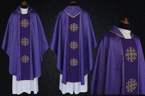 Jerusalem Cross Chasuble Velvet Waist