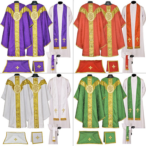 IHS Set of 4 - Vestment & Mass Sets
