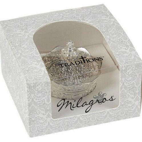Silver Crown Box with Arras Coins Set  ARRAS DE BODA 13 Coins