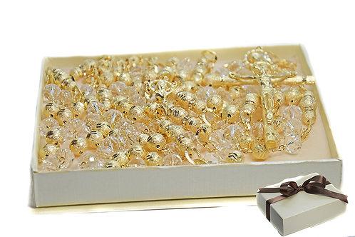 Crystal Lasso Rosary - Lazo de Bodas Handcrafted Wedding Lasso