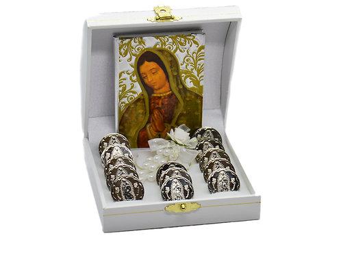 Wedding coins Arras de boda Matrimonio in Magnetic Display Box