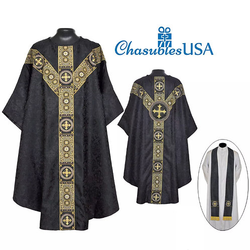 St. Andrews Black Gothic Chasuble Lined