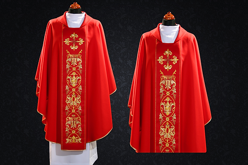 Clergy Embroidered Traditional Vestment Made Wool