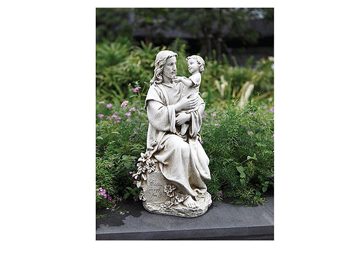 "Jesus With Child 20"" Garden Statue"