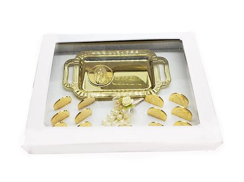 Arras de boda Matrimonio Wedding Unity Coins Boxed with Virgen de Guadalupe Tray