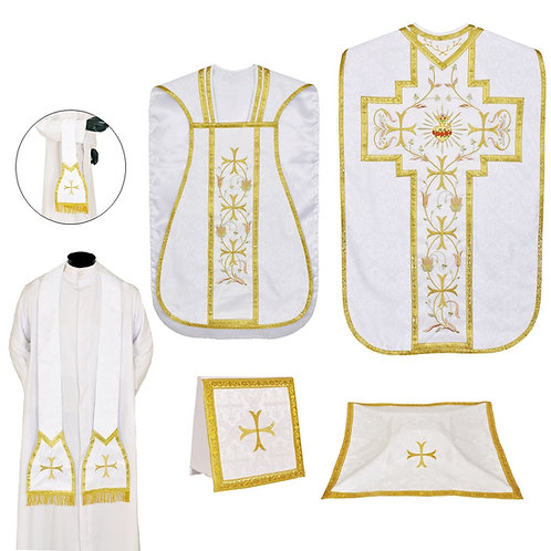 Immaculate Heart Fiddleback Chasuble & Low Mass Set