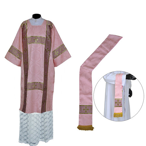 ROSE Dalmatic - for Gaudete and Laetare Sundays