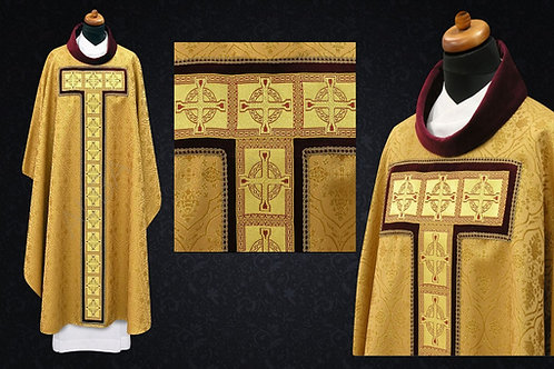 Vestment  with gold woven braid 100% Viscose