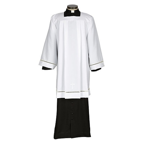 Augustinian Collection Eyelet Edge Surplice with Cross