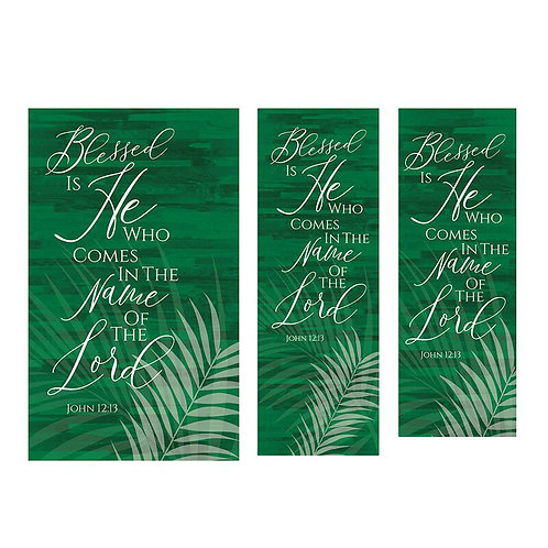 Blessed is He Palm Banner
