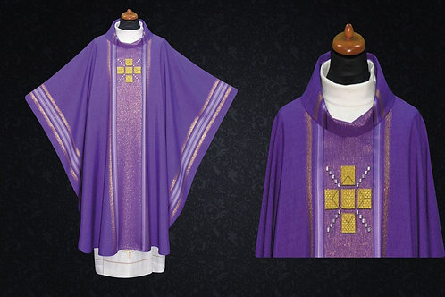 Clergy Vestments Modern Chasuble With Cross Motif