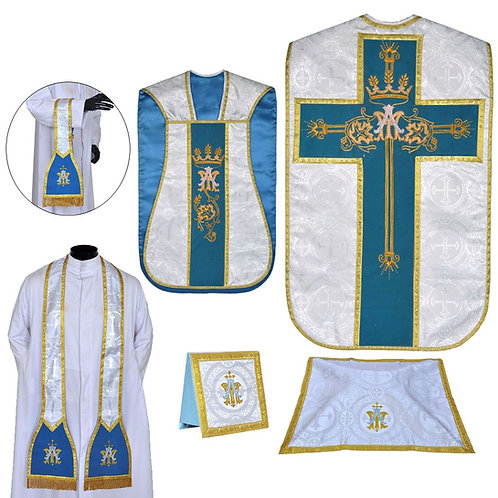 Roman Fiddleback Chasuble with Accessories