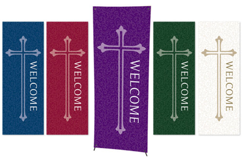 Welcome Series X-Stand Banners - Set of 5