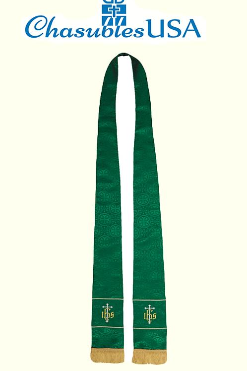 Maltese Jacquard Stole: Green