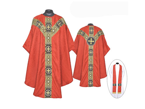 Chasuble RED Gothic Vestment and Stole