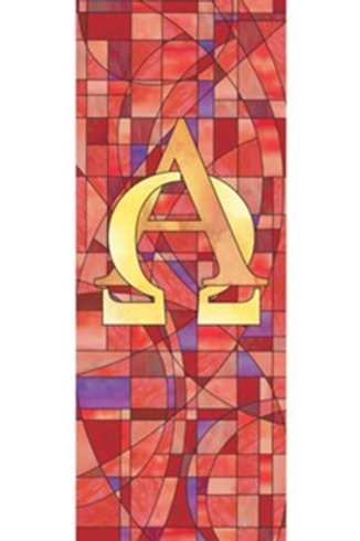 Stained Glass Series X-Stand Banner - Alpha & Omega
