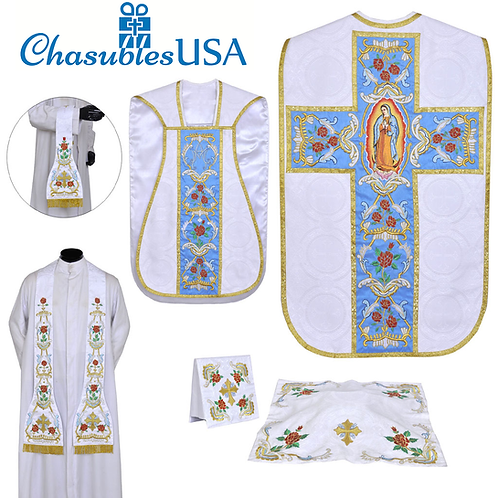 Our Lady of Guadalupe Fiddleback Chasuble Set