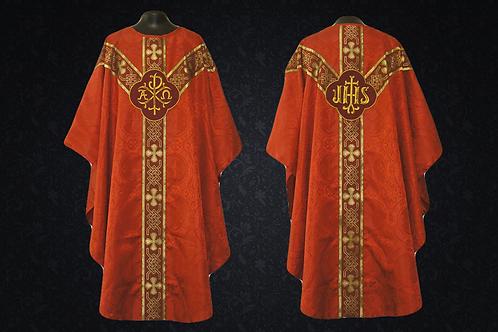 Chasuble RED Gothic Vestment & Mass Set 5pcs