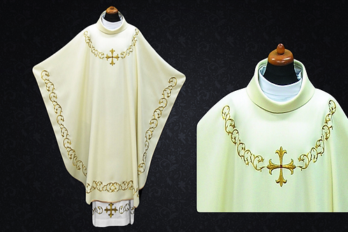 Chasuble made ​​ lightweight Fabric White