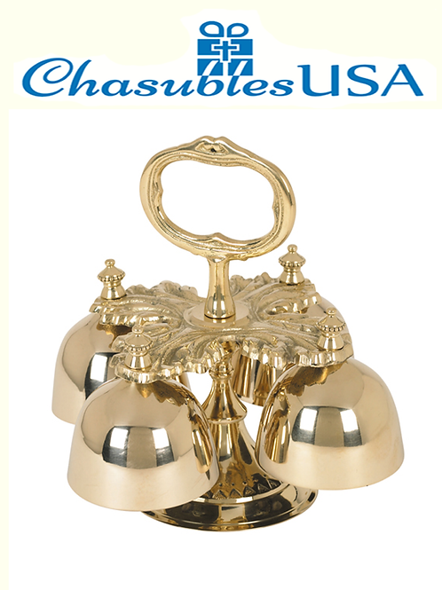 Oak Leaf Four Cup Hand Bells