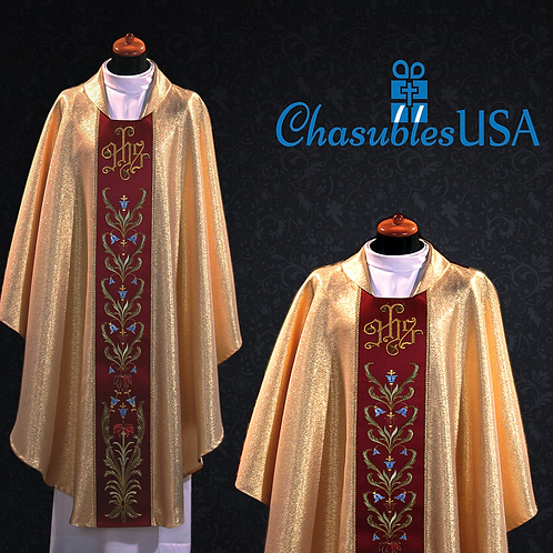 Eucharistic Chasuble Made of Italian Brocade