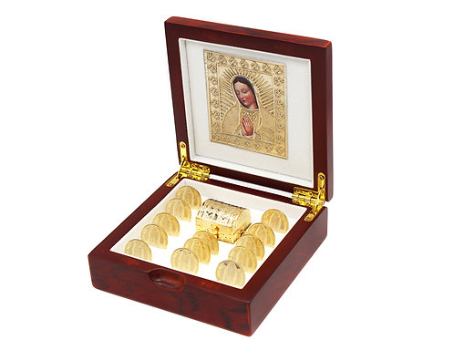 Wedding Unity Coins Decorative Magnetic Display Case