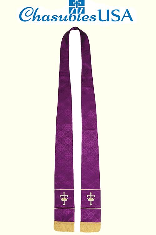 Maltese Jacquard Stole: Purple