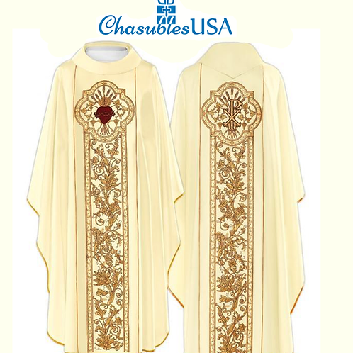 Sacred Heart Embridered Chasuble