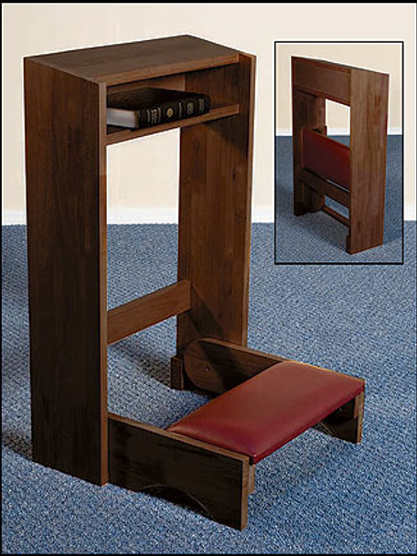 Folding Kneeler - Walnut Finish
