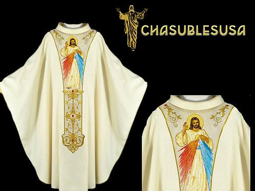 Priest Chasuble Elegant Divine Mercy Vestment Deisgn