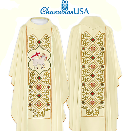 Agnus Dei Embridered Chasuble