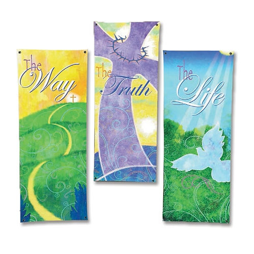 Life in Christ Series X-Stand Banners - Set of 3