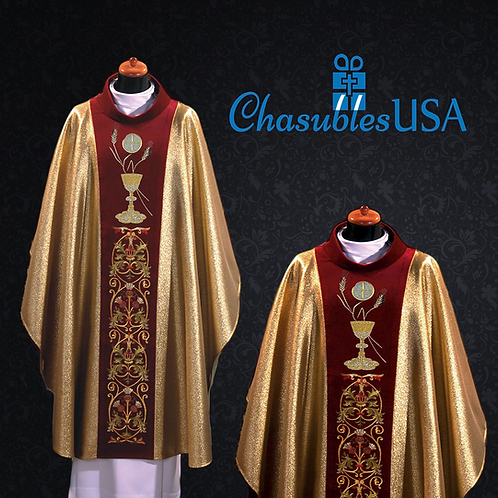 Eucharistic Chasuble Made of Italian Brocade