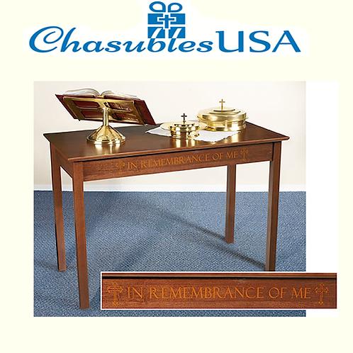Silk-Screened Communion Table