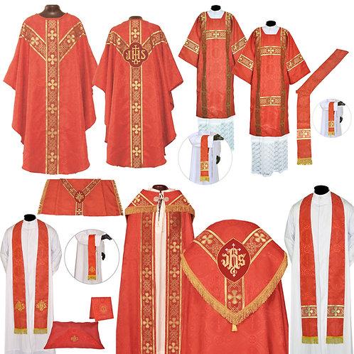 Red Gothic Solemn Requiem Mass Set