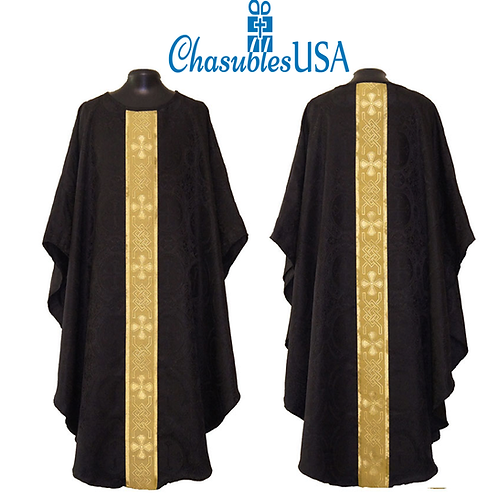 Black Gothic Vestment & Stole Set
