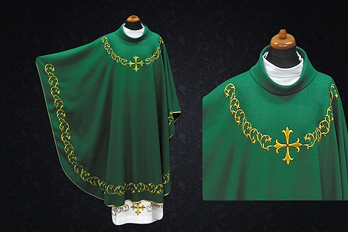 Chasuble made  lightweight Fabric Green